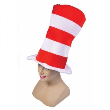 Gestreepte hoge hoed extra groot