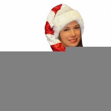 Gestreepte kerstmuts met pailletten