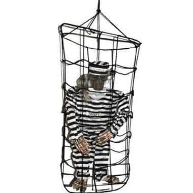 Gevangene in kooi pop 100 cm