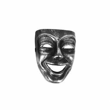 Gezichtsmasker zilver/zwart