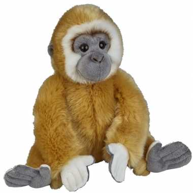 Gibbons speelgoed artikelen gibbon aap knuffelbeest bruin 28 cm