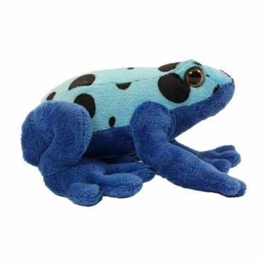 Gifkikker knuffeldier azureus blauw 18 cm