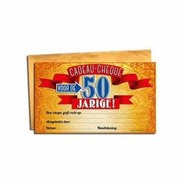 Gift cheque voor de 50 jarige