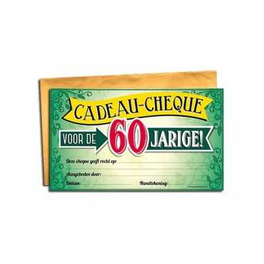Gift cheque voor de 60 jarige
