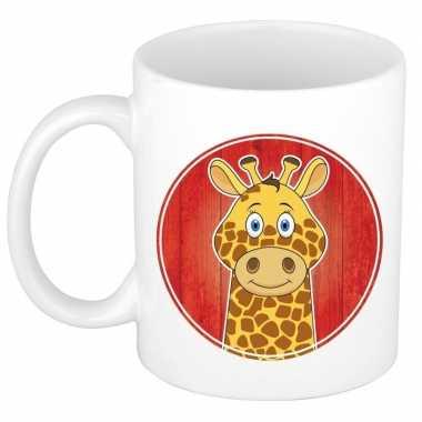 Giraffe mok beker voor kinderen 300 ml trend
