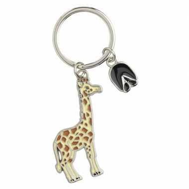 Giraffe sleutelhangers 5 cm