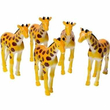 Giraffen speelgoed artikelen giraffe gevlekt 7 cm