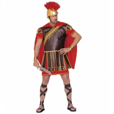 Gladiator outfit rood-bruin heren