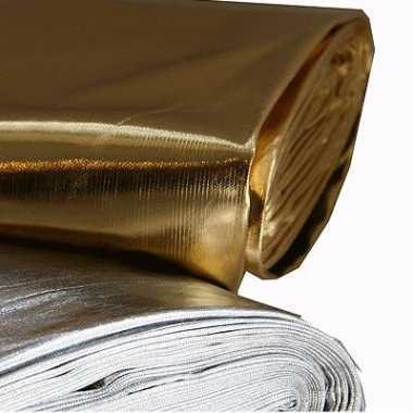 Glanzende stof zilver per meter