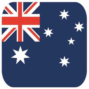 Glas viltjes met australische vlag 15 st