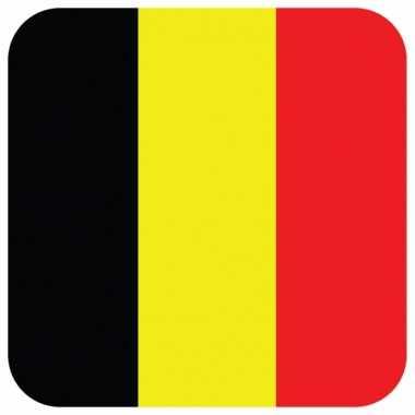 Glas viltjes met belgische vlag 15 st
