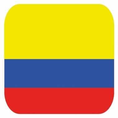 Glas viltjes met colombiaanse vlag 15 st