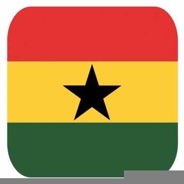 Glas viltjes met ghanese vlag 15 st