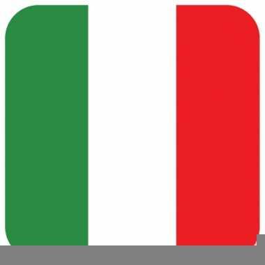 Glas viltjes met italiaanse vlag 15 st