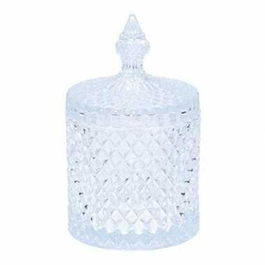 Glazen bonbonniere/pot voor paaseieren 19,5 cm