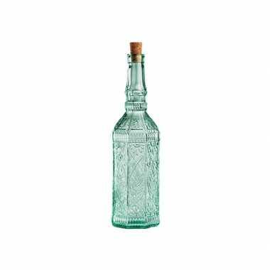 Glazen decoratie flessen met kurk