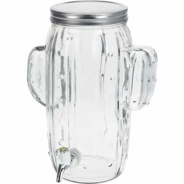 Glazen drank dispenser 4 liter met handvaten