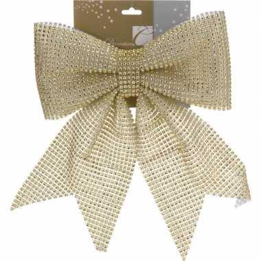 Gouden pailletten strik 29 cm
