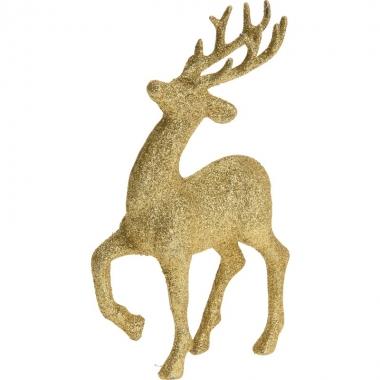 Gouden rendieren/hertjes deco kersthangers van 17 cm