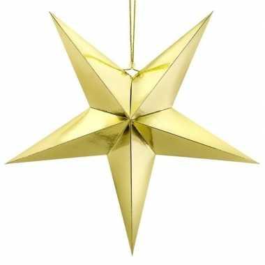 Gouden ster 30 cm kerst decoratie/versiering