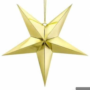 Gouden ster 70 cm kerst decoratie/versiering