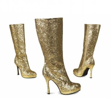 Goudkleurige glitter laarzen