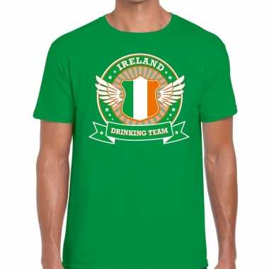 Groen ireland drinking team t-shirt heren