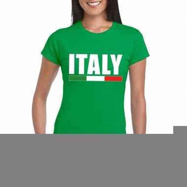 Groen italie supporter shirt dames