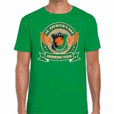 Groen st. patricks day drinking team t-shirt heren