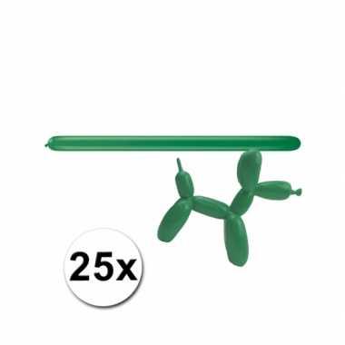 Groene modelleerballonnetjes 25 stuks