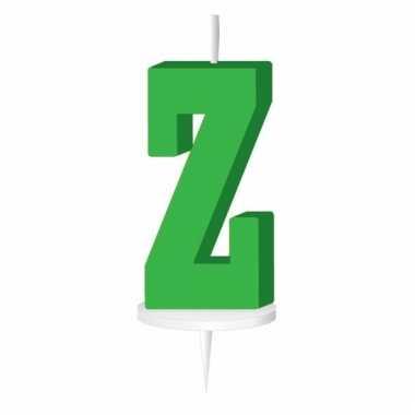 Groene naam kaarsje letter z