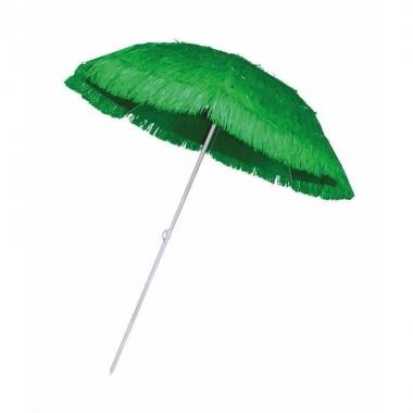 Groene parasol voor een hawaii feest trend