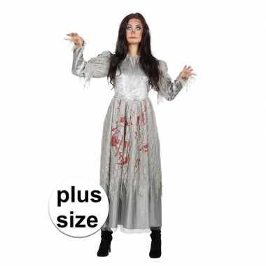Grote maat zombie halloween bruidsjurk voor dames