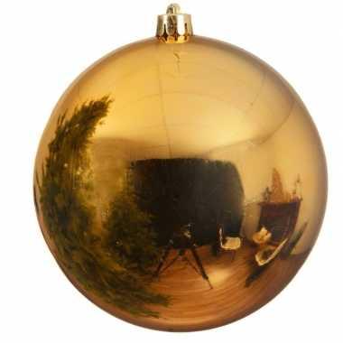 Grote raam/deur decoratie gouden kerstbal van 14 cm