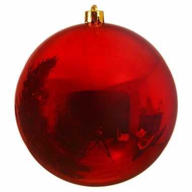 Grote raam/deur decoratie rode kerstbal van 14 cm