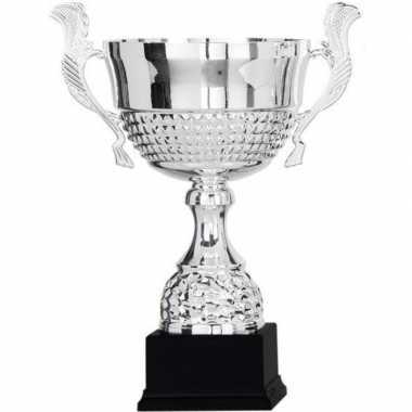 Grote zilveren trofee/prijs beker 36 cm