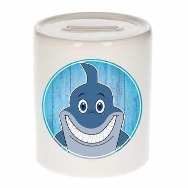Haai kado spaarpot voor kinderen 9 cm