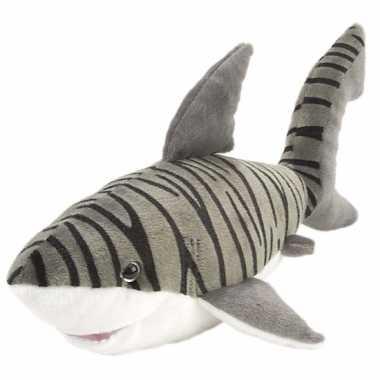 Haaien knuffels tijgerhaai 38 cm