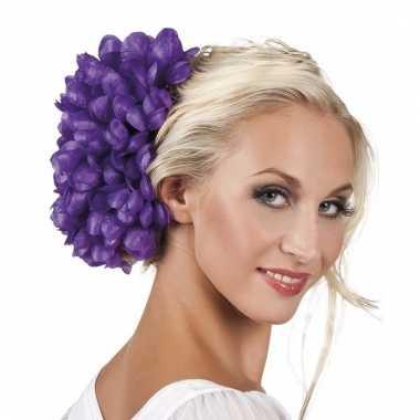 Haarbloem paarse dahlia met clip