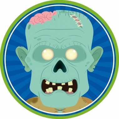 Halloween - 10x halloween onderzetters zombie
