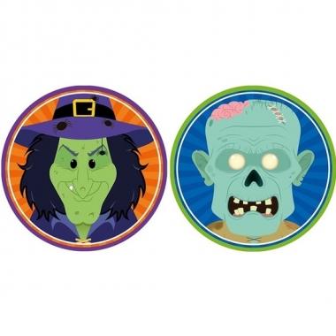 Halloween - 20x halloween onderzetters heks en zombie