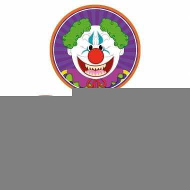 Halloween - 30x halloween onderzetters duivel/heks/horror clown