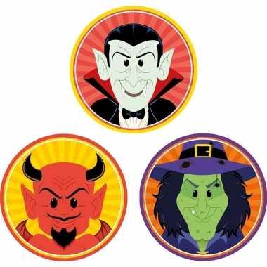 Halloween - 30x halloween onderzetters duivel/heks/vampier