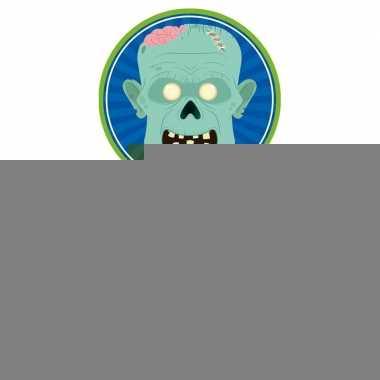 Halloween - 30x halloween onderzetters duivel/heks/zombie