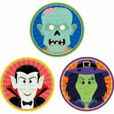 Halloween - 30x halloween onderzetters vampier/heks/zombie
