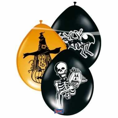 Halloween ballonnen zwart/groen 8 stuks