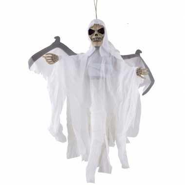 Halloween - bewegende skelet pop wit met licht en geluid