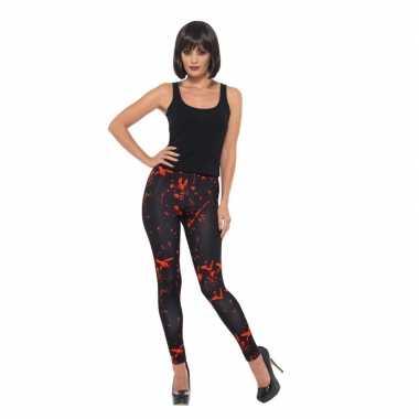 Halloween - bloederige horror legging zwart voor dames
