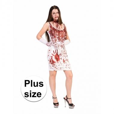 Halloween - bloederige jurk voor dames grote maat