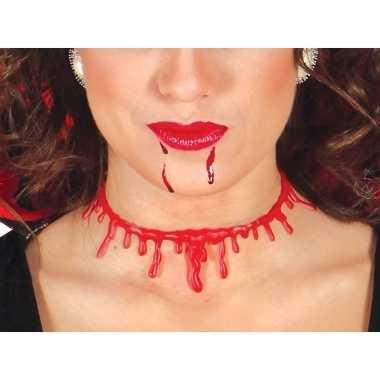 Halloween - bloederige nek ketting voor dames
